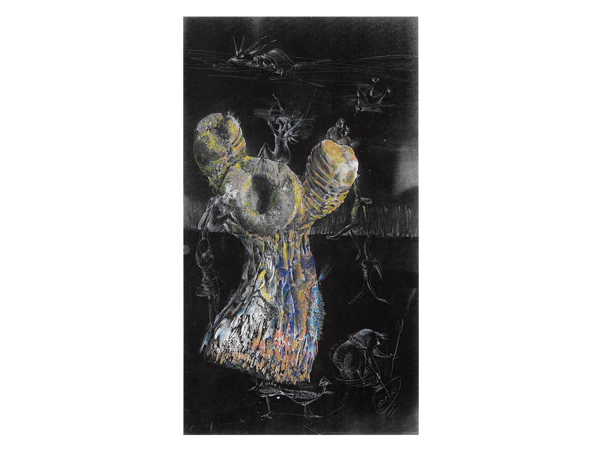 La fanciulla tronco di canna accenna una danza macabra