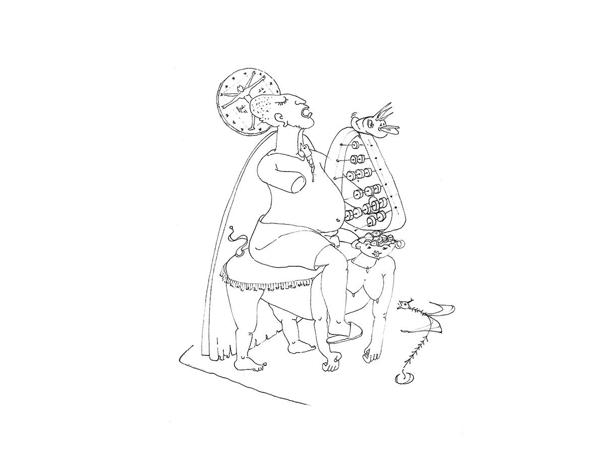 Dio denaro - Illustrazione del libro GOOD BYE MAMMA