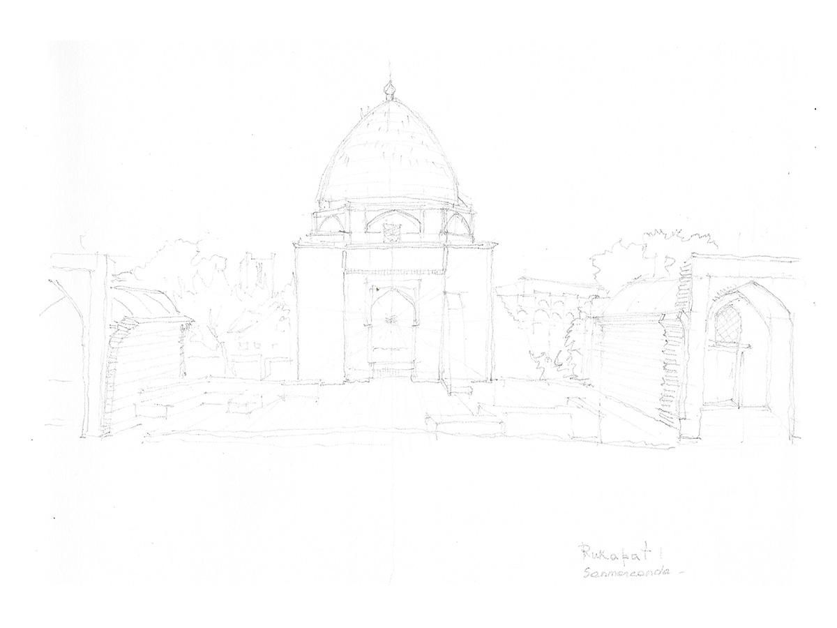 UTZBEKISTAN, Samarcanda, giugno 2012, mausoleo di Rukhobod 1380